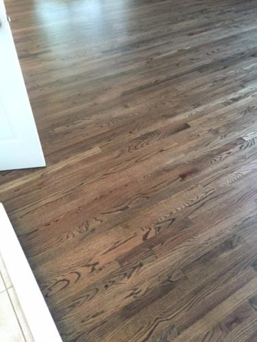 Install Red Oak 2R 1 with Dark Walnut Stain in Fort Collins