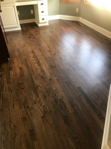 Fort Collins water popped stain antique brown