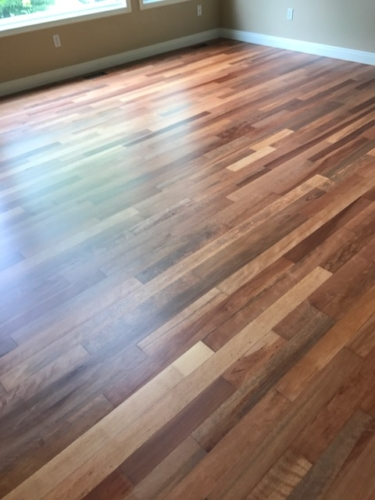Brazilian Cherry Hardwood Refinish with Commercial grade water finish – Fort Collins