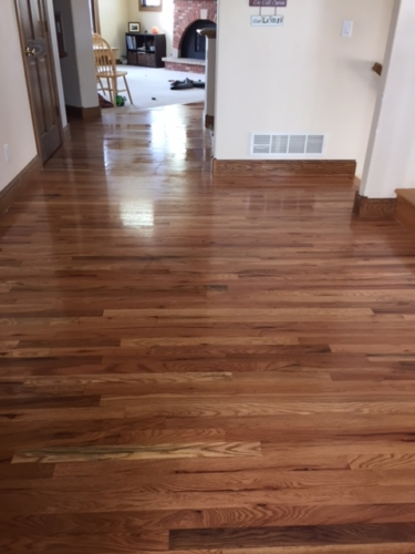 Neutral Stain on Red Oak