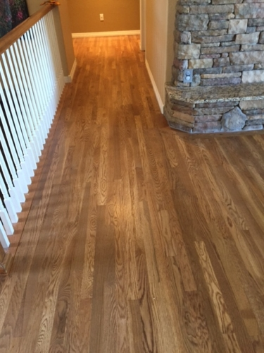 Hardwood refinish and laced in white oak in Fort Collins