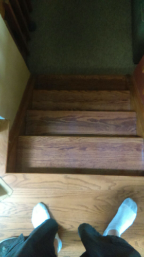 Hardwood stair installation in Fort Collins, Colorado