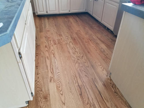 Fort Collins Hardwood Installer – red oak # 1 with nutmeg stain