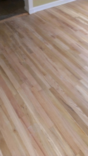 Red Oak Refinish – Before, During, After
