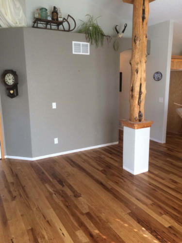 Hickory Hardwood Install, Sand, and Finish – Fort Collins