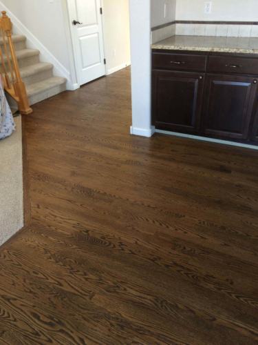 Fort Collins Hardwood Sand and Refinish with Jacobean