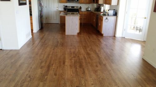 Hardwood Installers Refinishing English Chestnut in Fort Collins