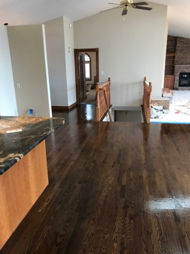 Refinish Greeley, spice brown stain